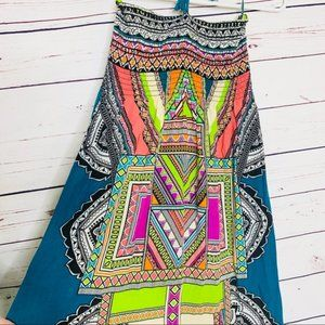 Flying Tomato Strapless Multicolor Maxi Dress XL